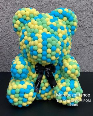 Colorful POM POM Bear only at Marquezgiftshop perfect gift for your Love 💞 one's for Sale in Riverside, CA