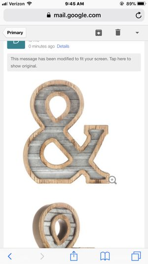 "Steampunk ""&"" Wood/Metal Letter for Sale in Reno, NV"