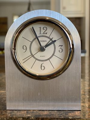 Linden Silver Desk Clock with Alarm for Sale in Phoenix, AZ