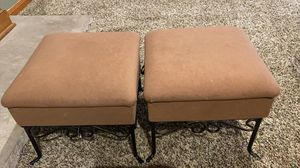 Small stool cushioned with stoage for Sale in East Brunswick, NJ
