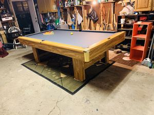 Brunswick 8ft Slate Pool Table Billiards(DELIVERED AND INSTALLED!!)🎱 for Sale in Chicago, IL