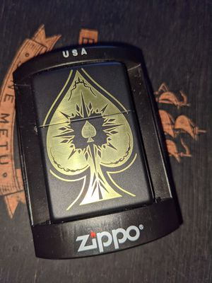 Zippo Ace of Spades matte black for Sale in Las Vegas, NV