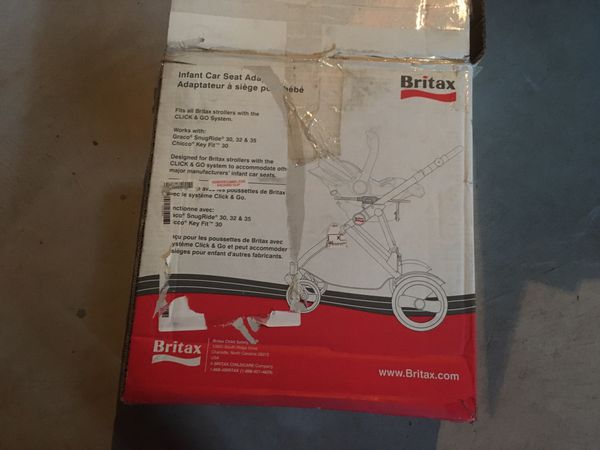 Britax b-agile stroller with adapter