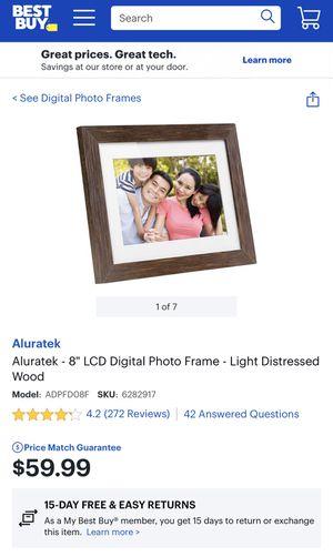 Wood frame digital photo gallery originally $59.99 for Sale in Gresham, OR