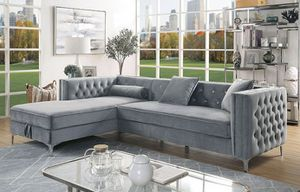 Grey glamorous luxurious sofa sectional couch/Yes We Finance 😁 Message To Apply Today / No Credit Needed - Order Today! for Sale in Downey, CA