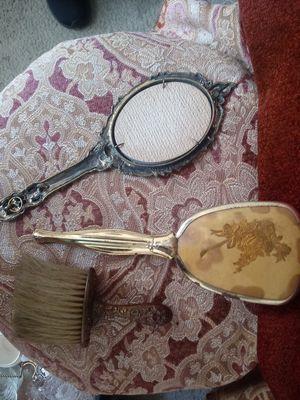 Vintage Mirror Hair Brush Mens Brush for Sale in Hannibal, MO