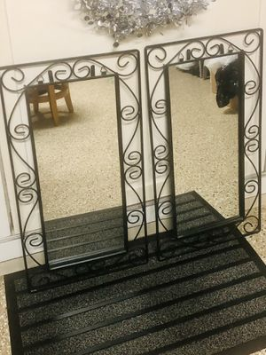 Set of Iron Wall Mirrors 27x14 for Sale in Mokena, IL