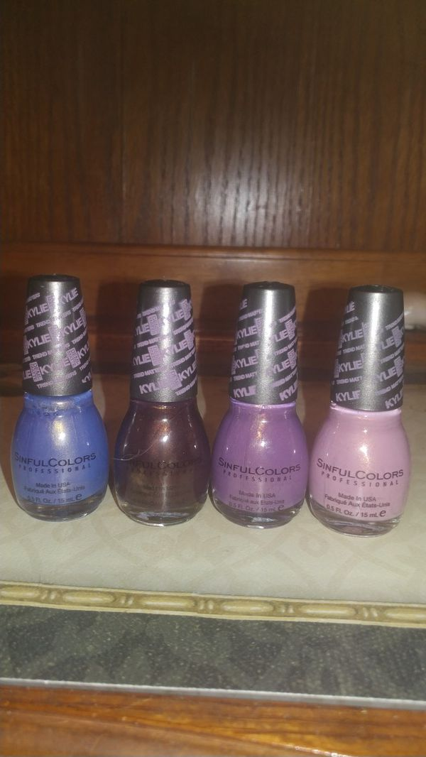 4 Kylie X Sinful colors limited edition velvet nail polish