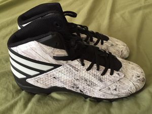 Adidas Freak x Carbon 3 MD Ironskin Cleats White Black Men's Size 8 for Sale in Tempe, AZ