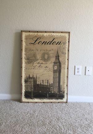 London Painting on Burlap Canvas for Sale in Fairfax, VA