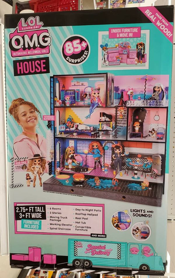 NEW L.O.L. Surprise! O.M.G. House – Real Wood Doll House with 85+ Surprises