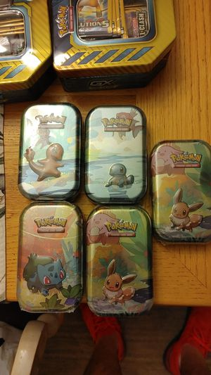 5 sealed mini tins have empty pikahu for set for Sale in Gulfport, FL