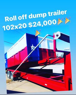 102x20 Dump can w trailer gooseneck for Sale in Dallas, TX