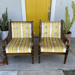 Vintage Sitting Chairs With Cane Detail 70's for Sale in Huntington Beach, CA