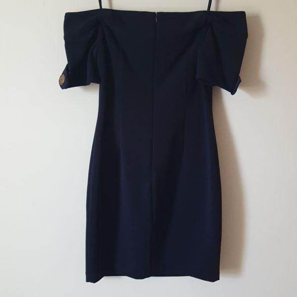 Badgley Mischka Off The Shoulder Dress