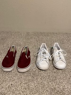 Maroon Vans and White/Green Stan Smiths for Sale in Tacoma, WA