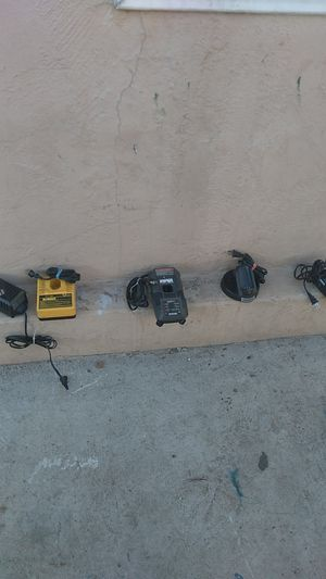 Chargers for drills. Skil,DeWalt,Ryobi. Chargers for Dremel for Sale in San Diego, CA