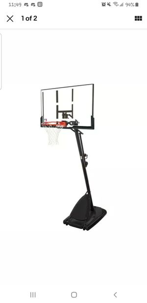 """Spalding NBA 54"""" Portable Angled Basketball Hoop with Polycarbonate Backboard for Sale in Whittier, CA"""