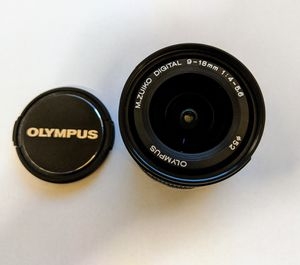 Olympus 9-18mm F4.0-5.6 Wide Angle Lens, for Micro Four Thirds Cameras M43 Panasonic M.Zuiko Digital ED for Sale in La Mesa, CA