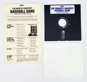 "Epyx The World's Greatest Baseball Game 5.25"" Floppy Disks (1985) IBM PC Tandy for Sale in Trenton, NJ"