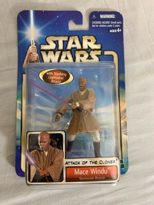 2002 Hasbro Star Wars - Attack of the Clones Mace Windu - Collection 1 Geonosian for Sale in Nazareth, PA
