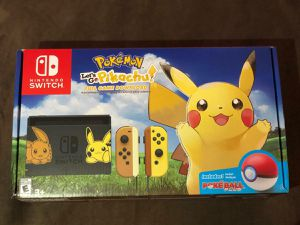 Nintendo switch console let's go pikachu pokemon limited edition new for Sale in Framingham, MA