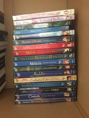 Disney Princess movies DVDS BLU-Ray for Sale in Miami, FL