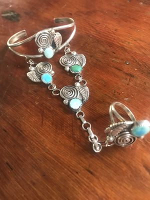 Turquoise Southwest Slave Bracelet for Sale in Palm Springs, CA
