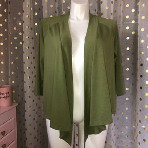 Charter Club size 2x open front olive green 3/4 length sleeve top for Sale in Saint Albans, WV