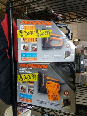 PowerShot Pro contractor grade electric staple and nail gun for Sale in Phoenix, AZ