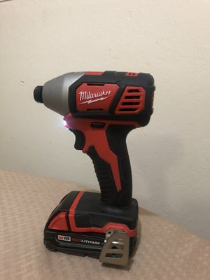 Milwaukee drill impact drill almost new casi nuevo for Sale in San Leandro, CA