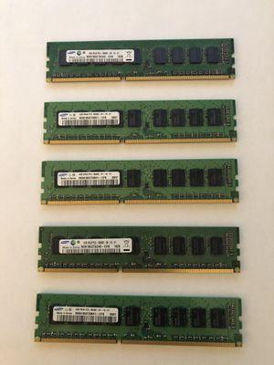 Samsung Desktop computer memory - PC3 - RAM (5x4GB stick) for Sale in South Riding, VA