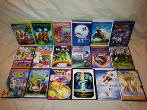 DVD Lot 4: Kids Scooby Doo, Shrek, Neverending Story, Indian in the Cupboard, Nanny McPhee, E.T., Courage Mountain, Animated Collection 20+ discs for Sale in DeLand, FL