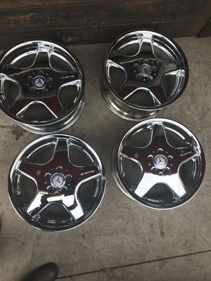 "18"" AMG AUTHENTIC MERCEDES SL wheels rims chromed ET20 offset for Sale in Chula Vista, CA"