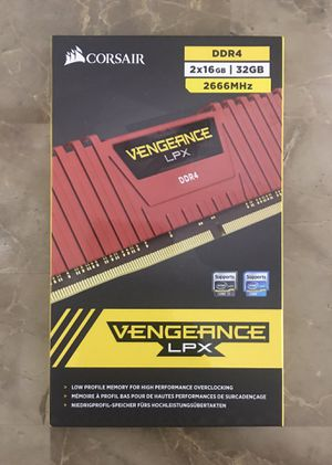 Gaming Corsair Vengeance 32GB ( 16GB x 2 ) 2666MHz for Desktop computer system for Sale in Hollywood, FL
