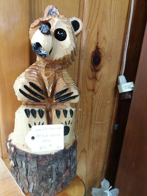 Hand Carved Wood Bear for Sale in Lakeside, AZ