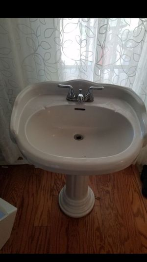 Bathroom sink with faucet (please read description) for Sale in Grand Prairie, TX