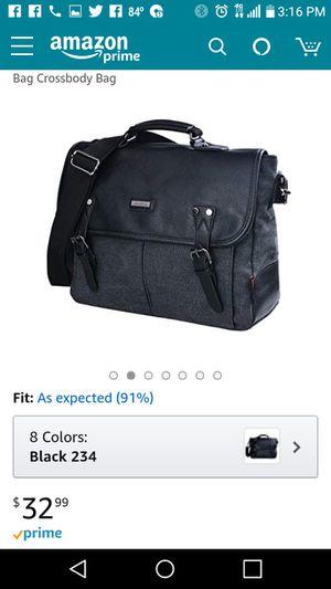 Men's Canvas Shoulder Laptop Bags Vintage Messenger Bag Crossbody Bag for Sale in Wayne, MI