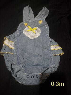 Cute ruffle overall for Sale in Fresno, CA