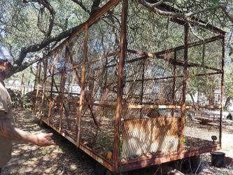 Caged/enclosed trailer, (read) for Sale in San Antonio,  TX