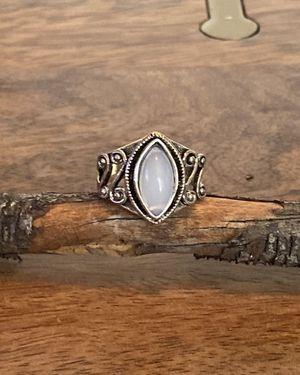 🍃🌸🍃 Bohemian Natural Gemstone Jewelry Tibetan Silver Rainbow Moonstone Ring size:9 ~ New! for Sale in Phoenix, AZ