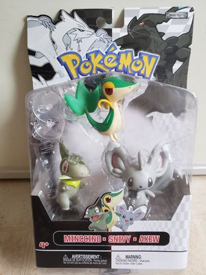 Pokemon Black & White Series 2 Basic Minccino, Snivy & Axew Figure 3-Pack. for Sale in Adelphi, MD