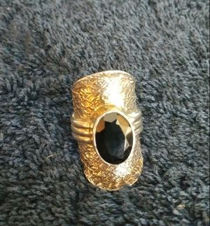 Black Spinel Sterling Silver Saddle Ring for Sale, used for sale  San Jose, CA
