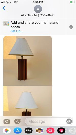 Antique lamp with wooden base for Sale in Easton, PA