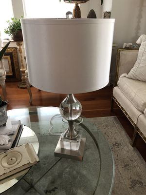 Beautiful brushed nickel and crystal vibe with silver shade for Sale in Portland, OR