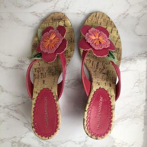 Super cute! Flower wedge heel sandals for Sale in Oceanside, CA