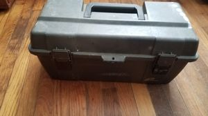 Pland Grey Plastic Toolbox with Inside Tray - Very Nice for Sale in Cayce, SC