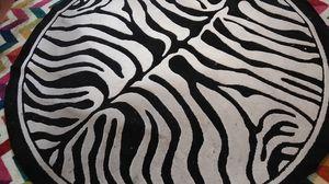 Zebra carpet round for Sale in Las Vegas, NV