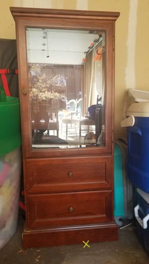 Storage Shelf/Cabinet with Glass Door for Sale in Lakewood, CO