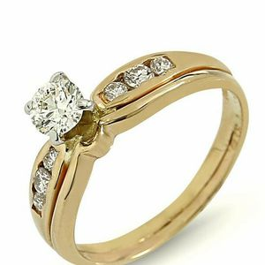 U7027 DIAMOND ENGAGEMENT RING WEDDING BAND SET LADIES 14K GOLD for Sale in Beverly Hills, CA